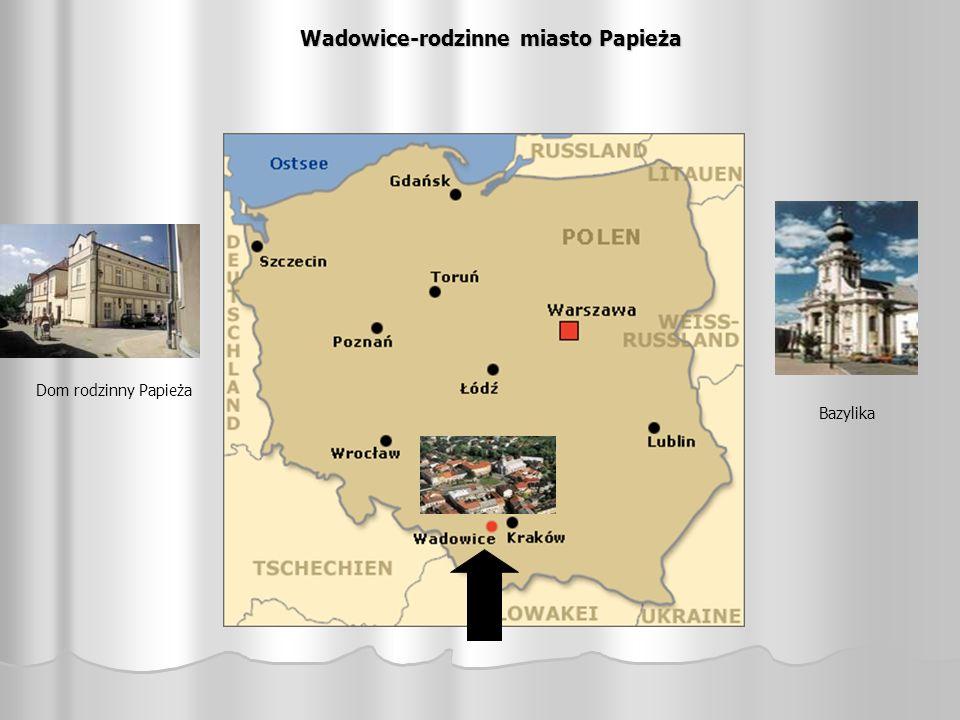 Wadowice-rodzinne miasto Papieża