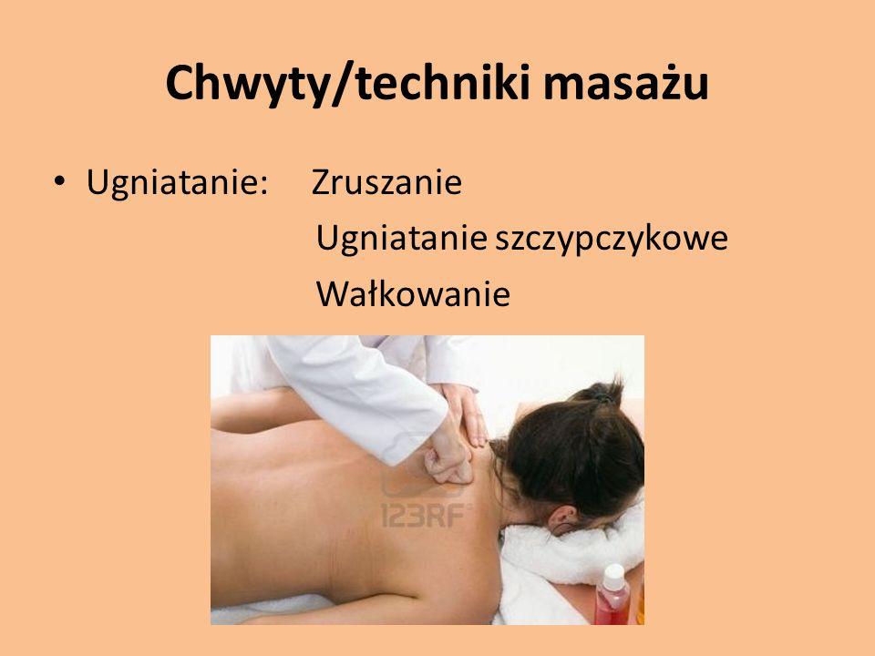 Chwyty/techniki masażu