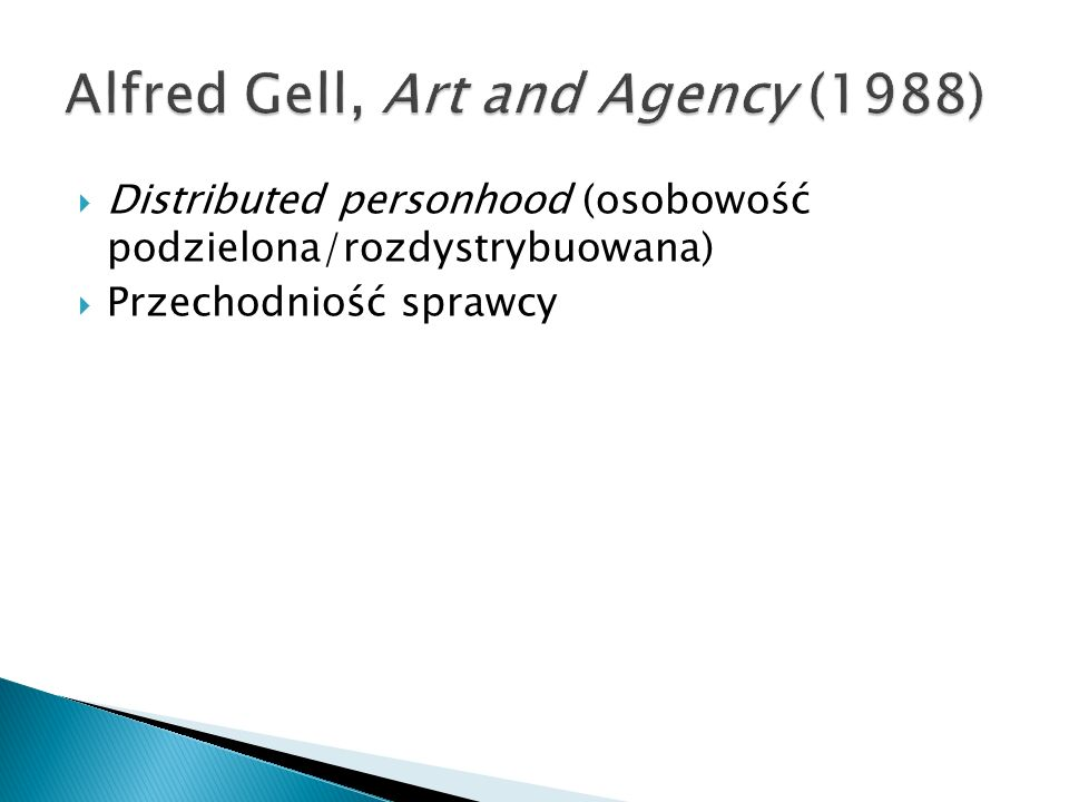 Alfred Gell, Art and Agency (1988)