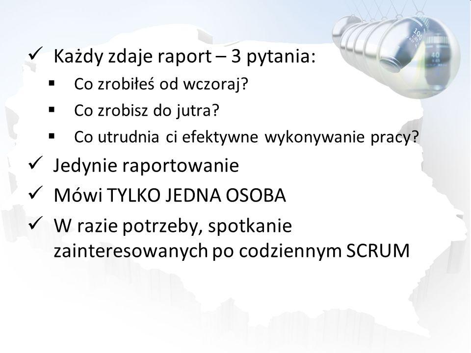 Każdy zdaje raport – 3 pytania:
