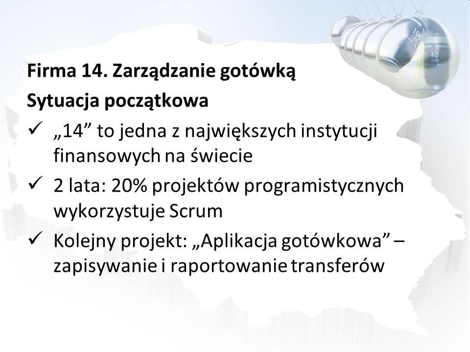 Firma 14. Zarządzanie gotówką