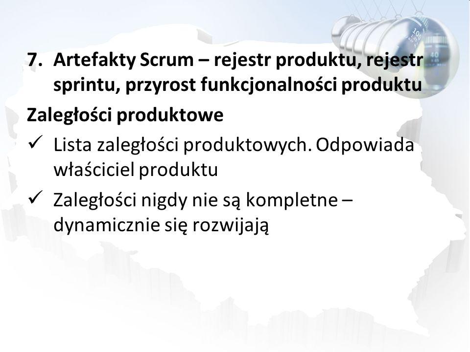 Artefakty Scrum – rejestr produktu, rejestr sprintu, przyrost funkcjonalności produktu