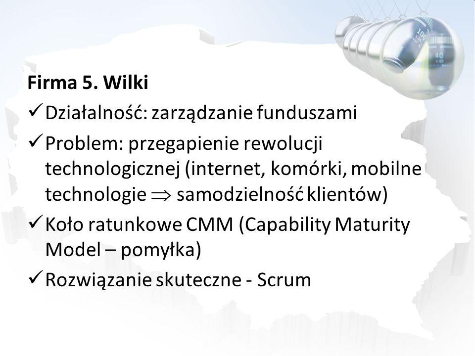 Firma 5. Wilki Działalność: zarządzanie funduszami.