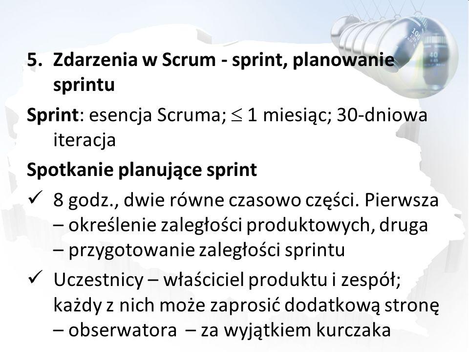 Zdarzenia w Scrum - sprint, planowanie sprintu