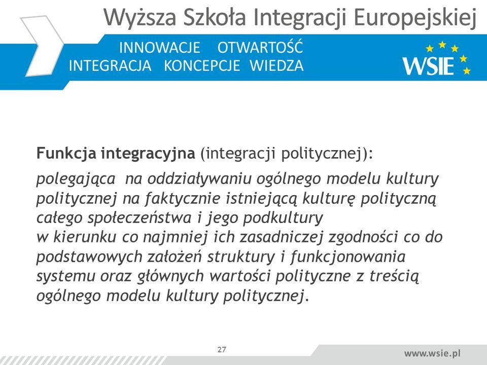 Funkcja integracyjna (integracji politycznej):