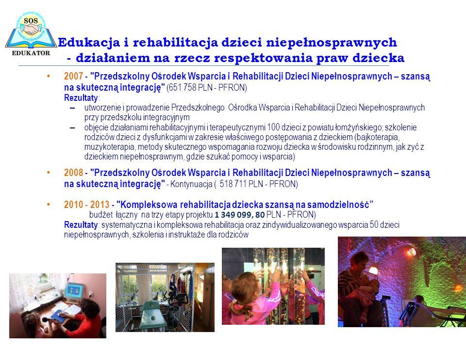Edukacja i rehabilitacja dzieci niepełnosprawnych