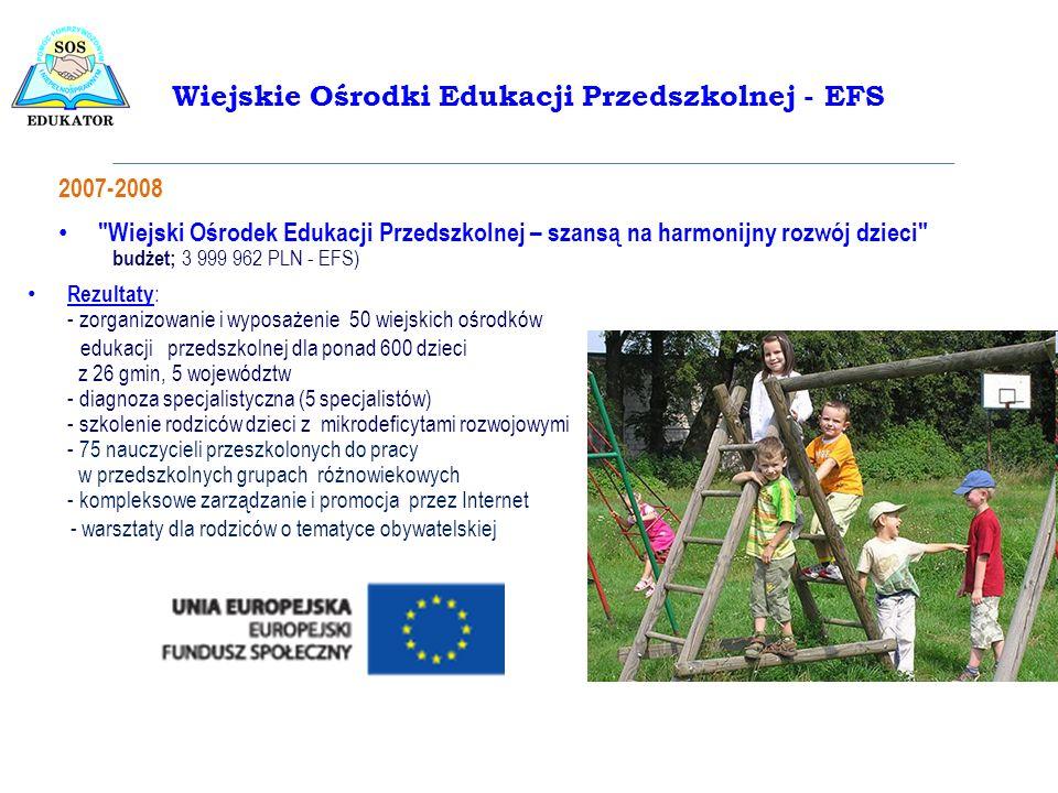 Wiejskie Ośrodki Edukacji Przedszkolnej - EFS