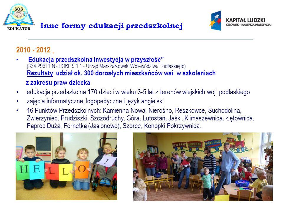 Inne formy edukacji przedszkolnej