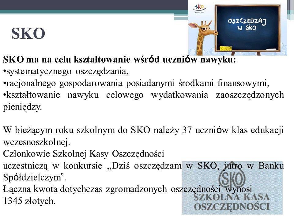 SKO SKO ma na celu kształtowanie wśród uczniów nawyku: