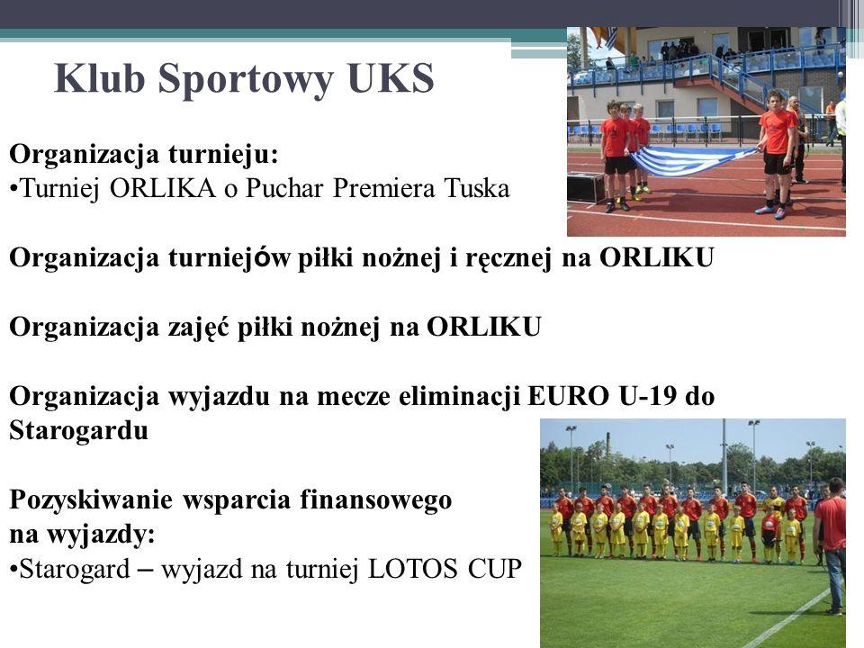 Klub Sportowy UKS Organizacja turnieju: