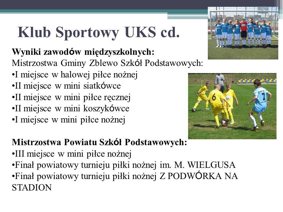 Klub Sportowy UKS cd. Wyniki zawodów międzyszkolnych: