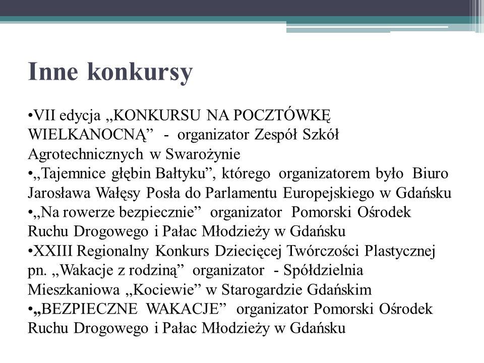 """Inne konkursy VII edycja """"KONKURSU NA POCZTÓWKĘ WIELKANOCNĄ - organizator Zespół Szkół Agrotechnicznych w Swarożynie."""