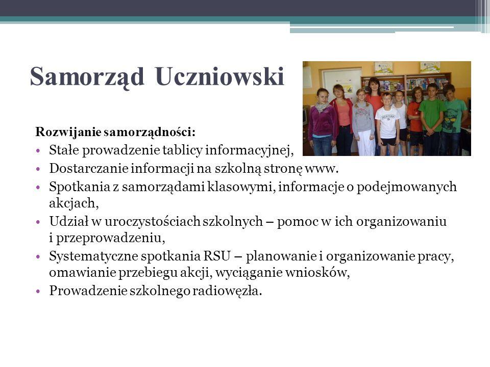 Samorząd Uczniowski Rozwijanie samorządności: