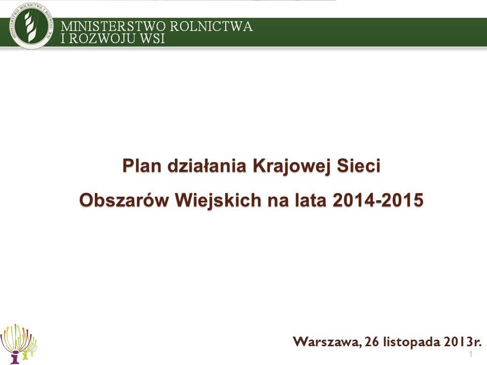 Plan działania Krajowej Sieci Obszarów Wiejskich na lata 2014-2015