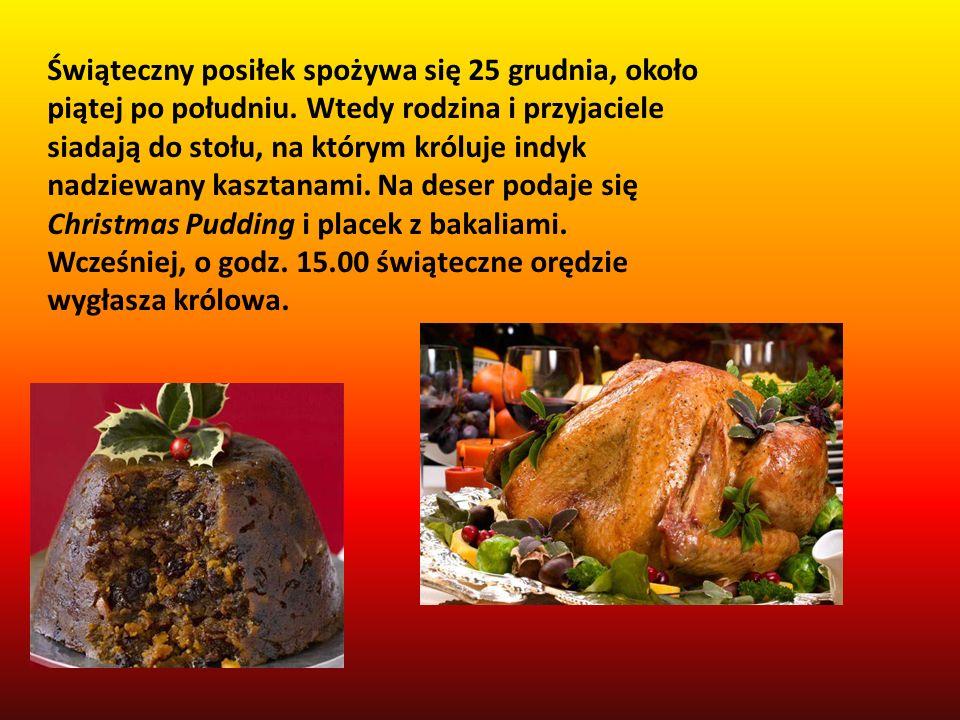 Świąteczny posiłek spożywa się 25 grudnia, około piątej po południu