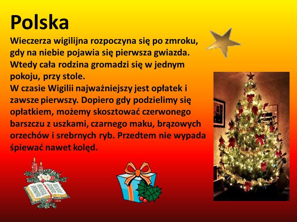 Polska Wieczerza wigilijna rozpoczyna się po zmroku, gdy na niebie pojawia się pierwsza gwiazda.