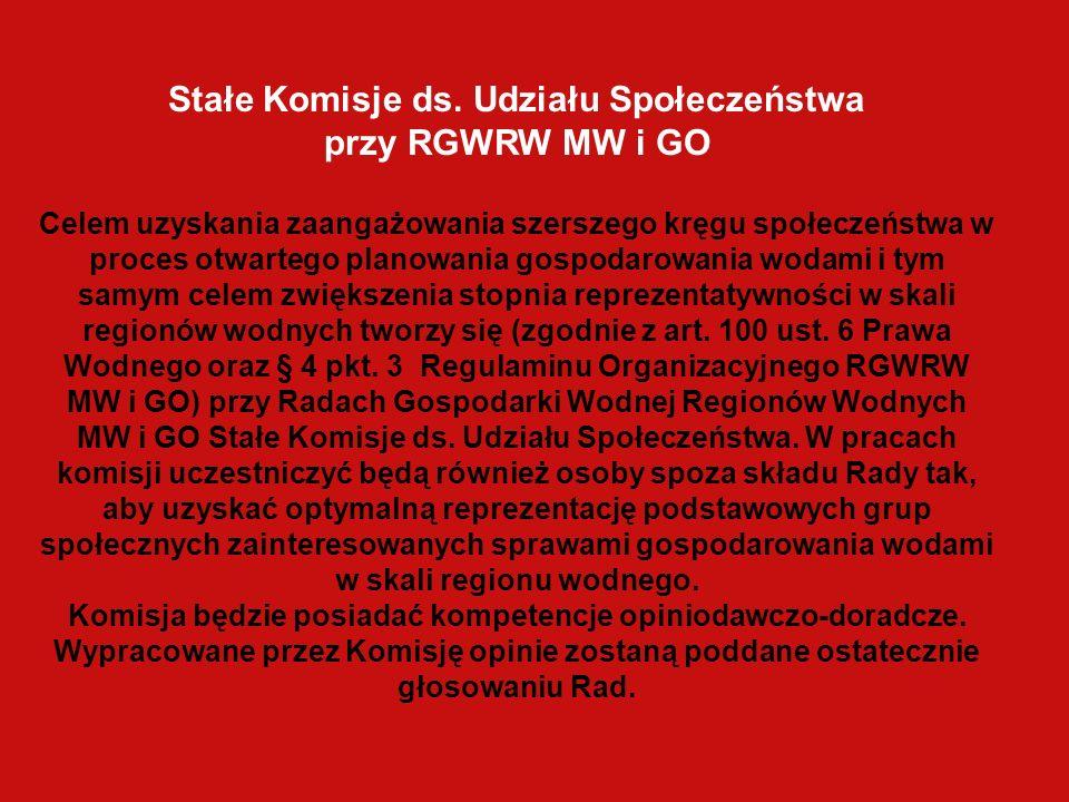 Stałe Komisje ds. Udziału Społeczeństwa przy RGWRW MW i GO