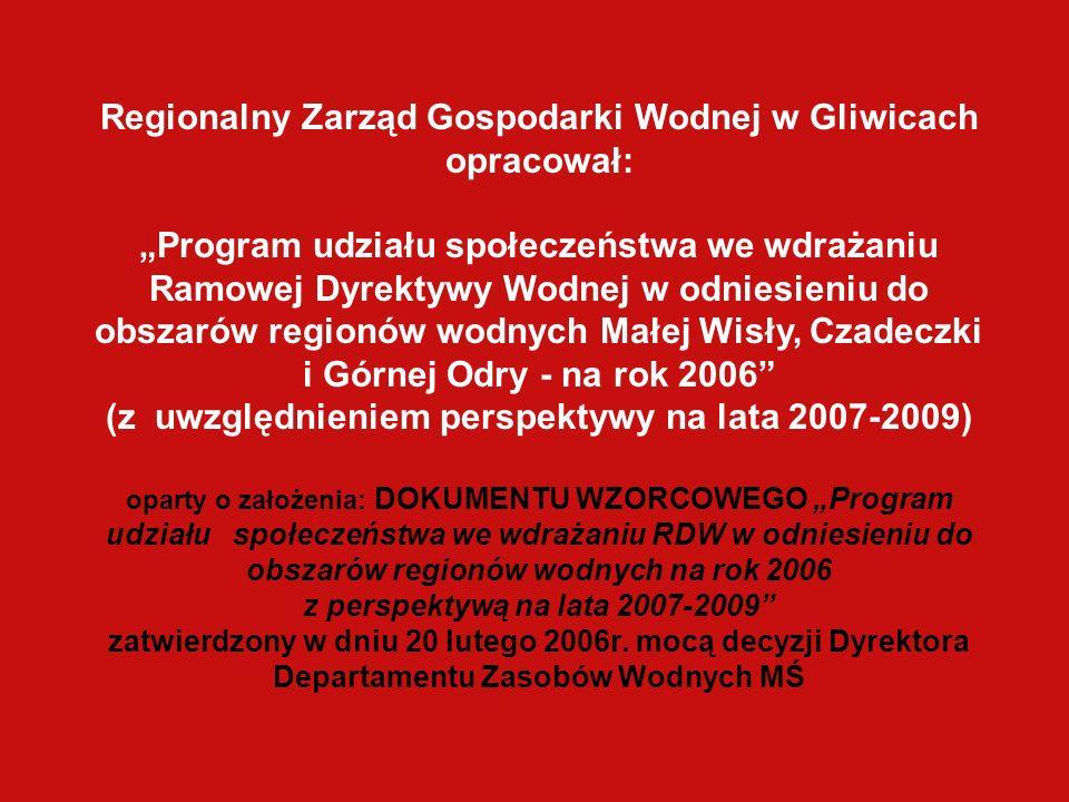 Regionalny Zarząd Gospodarki Wodnej w Gliwicach opracował: