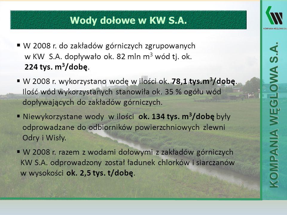 W 2008 r. do zakładów górniczych zgrupowanych