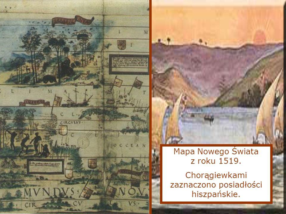 Mapa Nowego Świata z roku 1519.