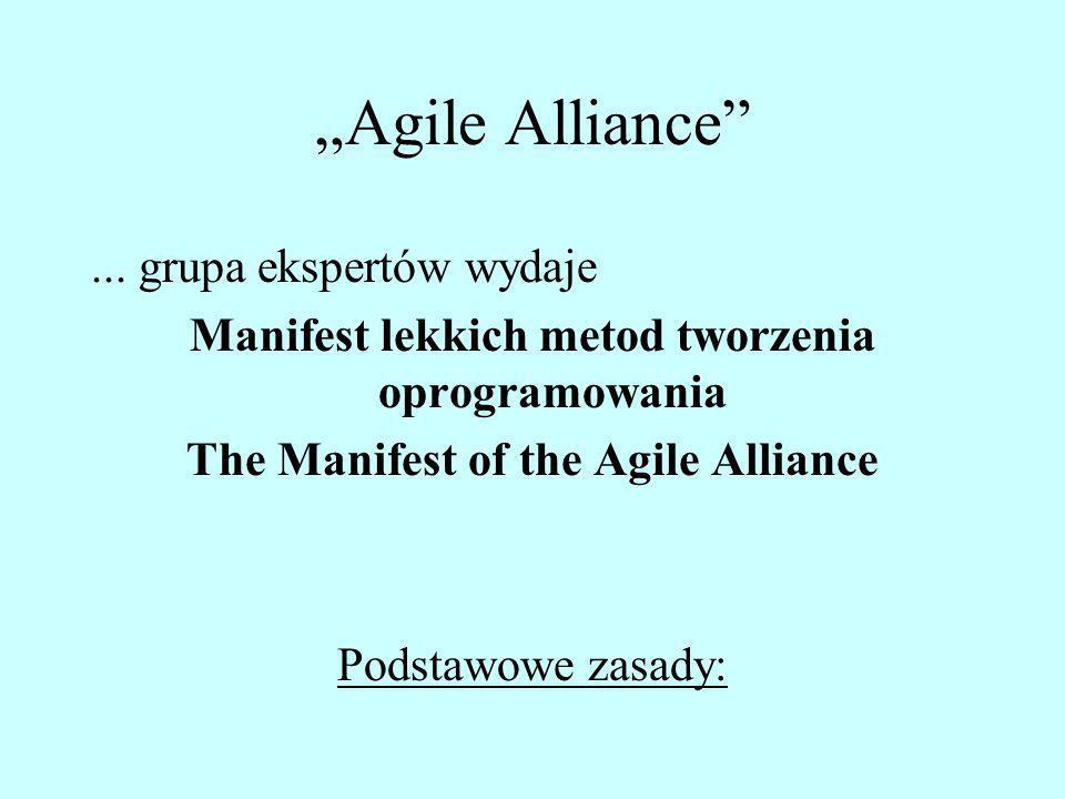 """""""Agile Alliance ... grupa ekspertów wydaje"""