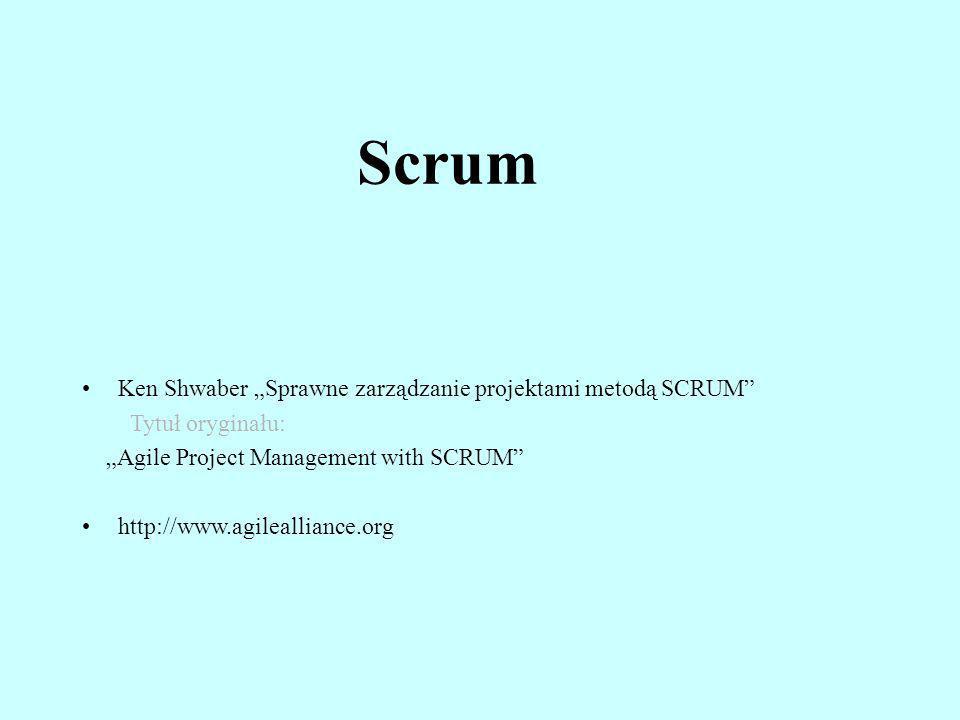 """Scrum Ken Shwaber """"Sprawne zarządzanie projektami metodą SCRUM"""