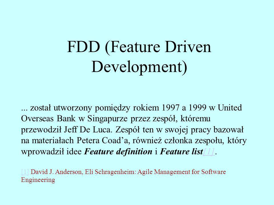 FDD (Feature Driven Development)