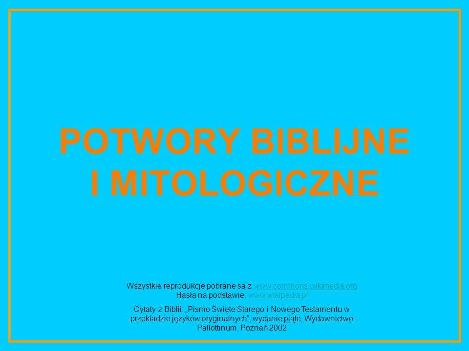 POTWORY BIBLIJNE I MITOLOGICZNE