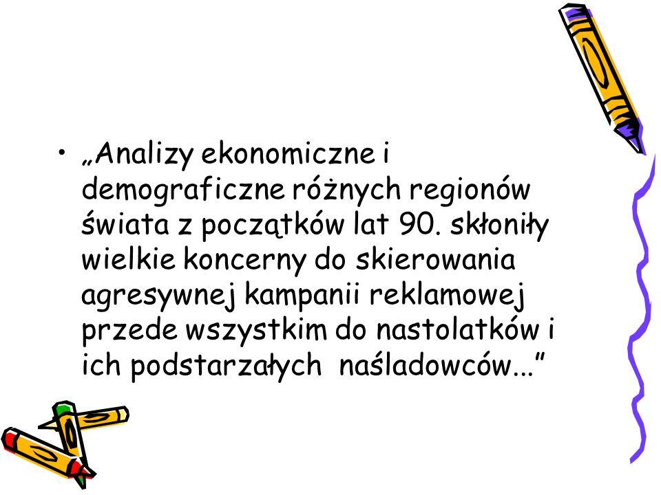 """""""Analizy ekonomiczne i demograficzne różnych regionów świata z początków lat 90."""