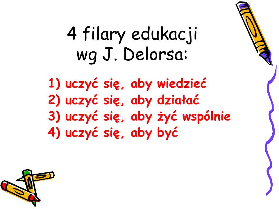 4 filary edukacji wg J. Delorsa: