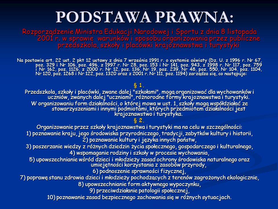 PODSTAWA PRAWNA: