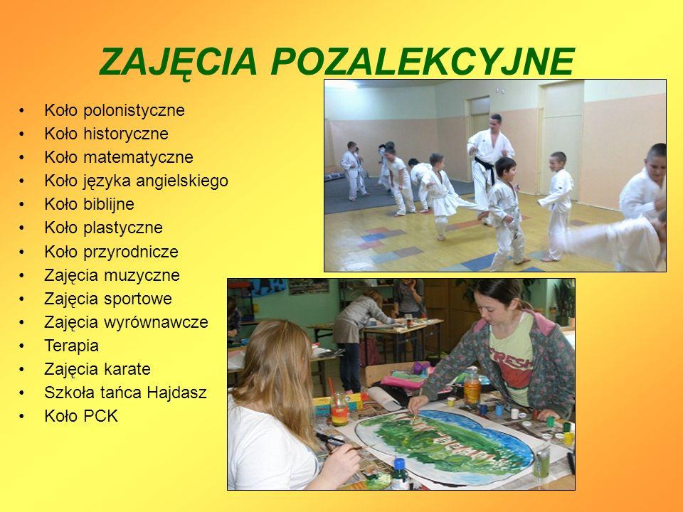 ZAJĘCIA POZALEKCYJNE Koło polonistyczne Koło historyczne