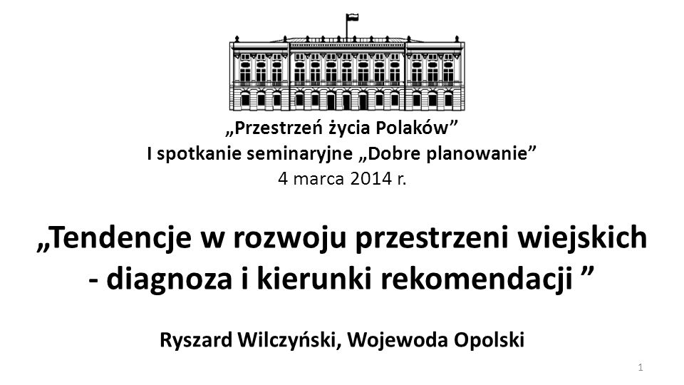 """""""Przestrzeń życia Polaków"""