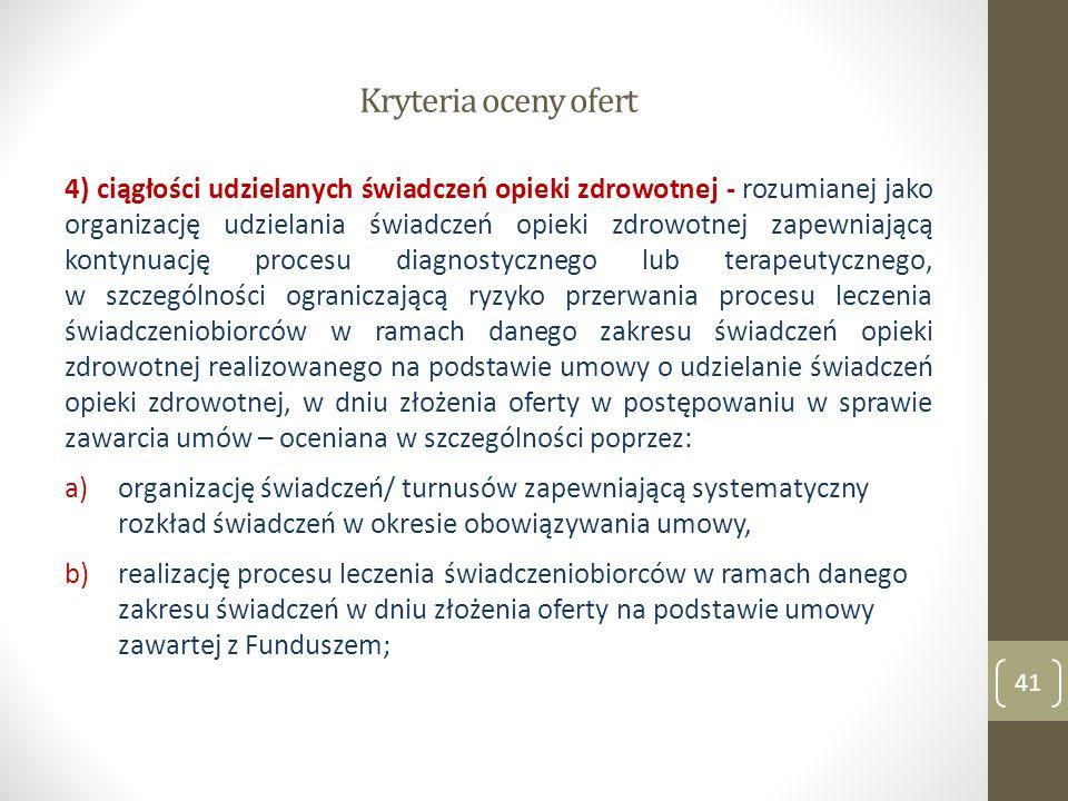 Kryteria oceny ofert