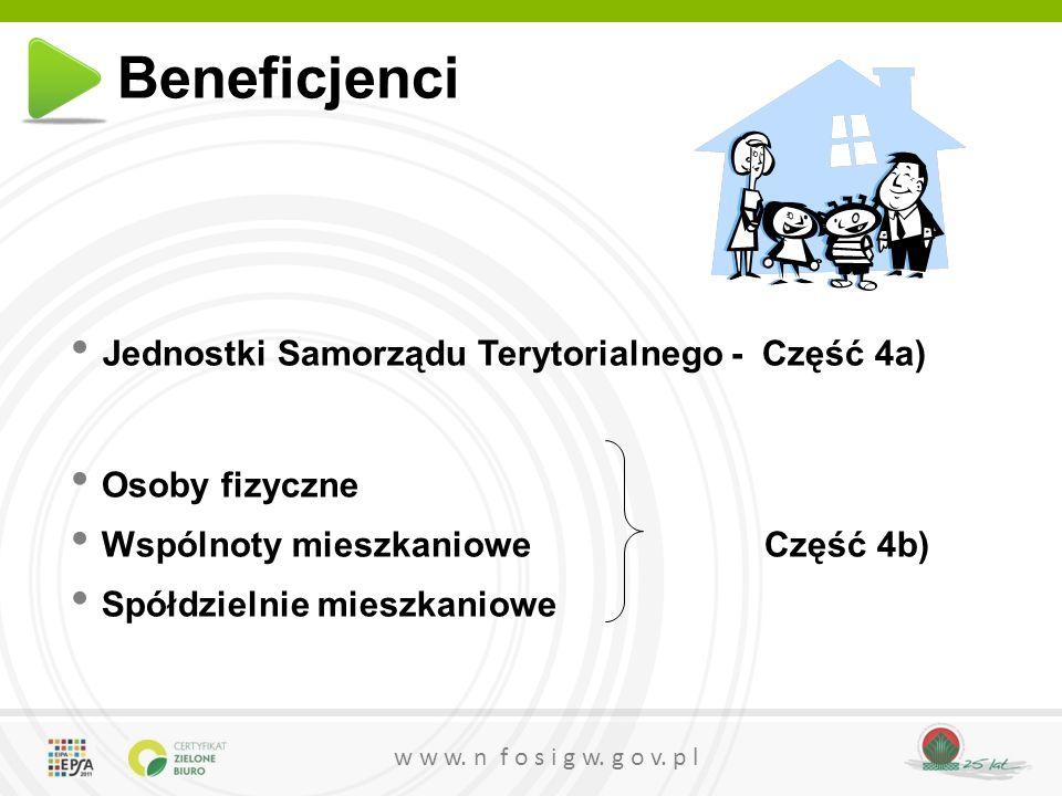 Beneficjenci Jednostki Samorządu Terytorialnego - Część 4a)