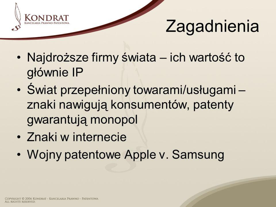 Zagadnienia Najdroższe firmy świata – ich wartość to głównie IP