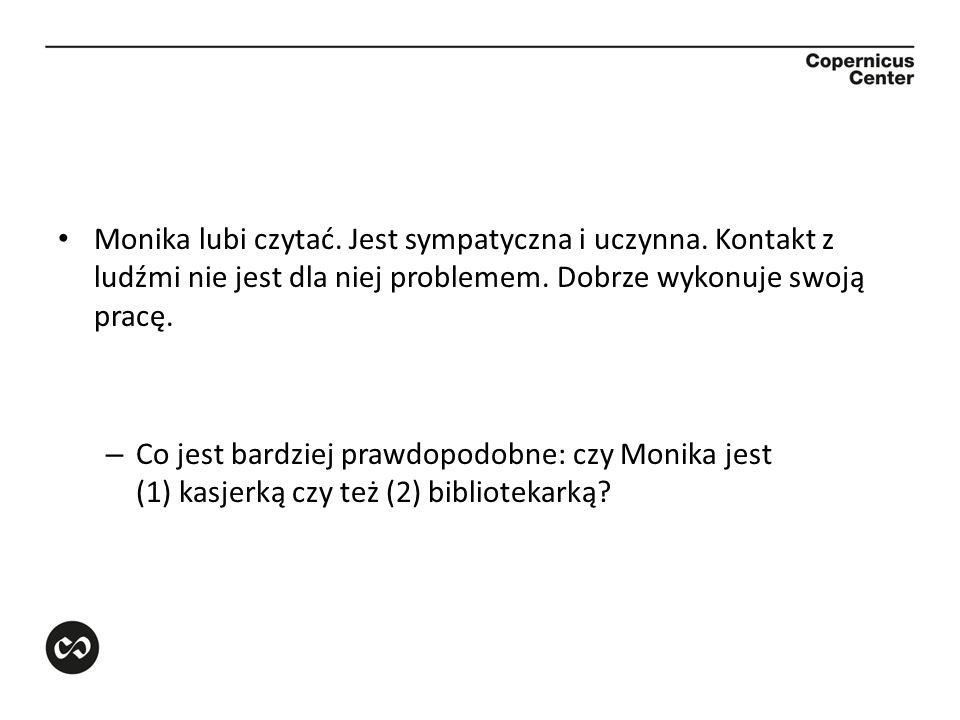 Monika lubi czytać. Jest sympatyczna i uczynna