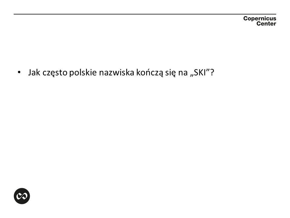 """Jak często polskie nazwiska kończą się na """"SKI"""