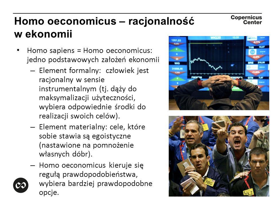 Homo oeconomicus – racjonalność w ekonomii