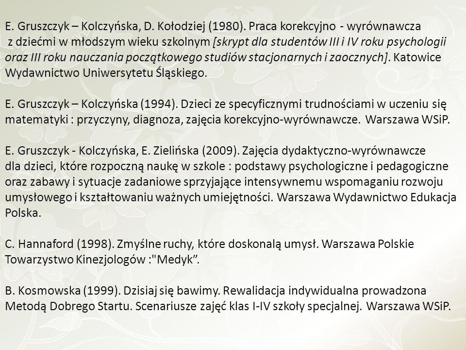 E. Gruszczyk – Kolczyńska, D. Kołodziej (1980)