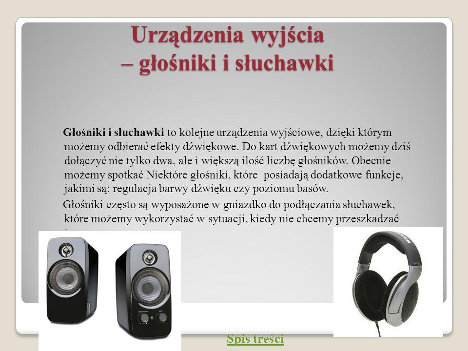 Urządzenia wyjścia – głośniki i słuchawki