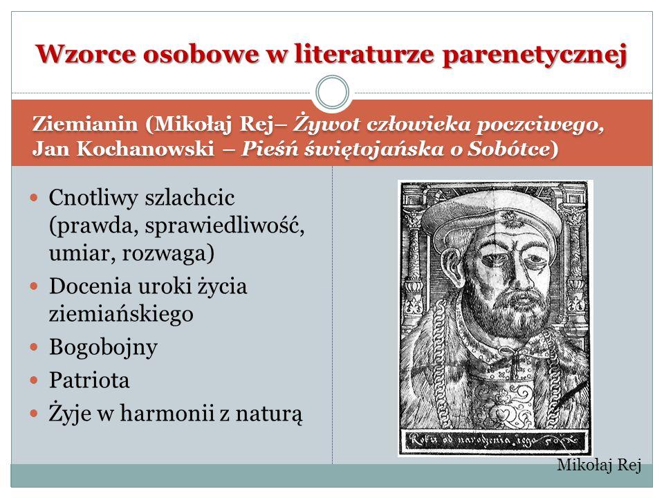 Wzorce osobowe w literaturze parenetycznej