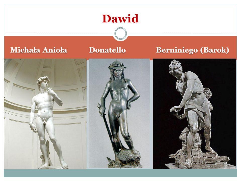 Dawid Michała Anioła Donatello Berniniego (Barok)
