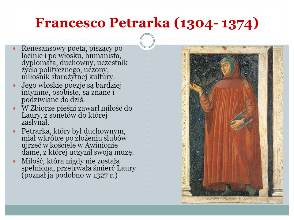 Francesco Petrarka (1304- 1374)