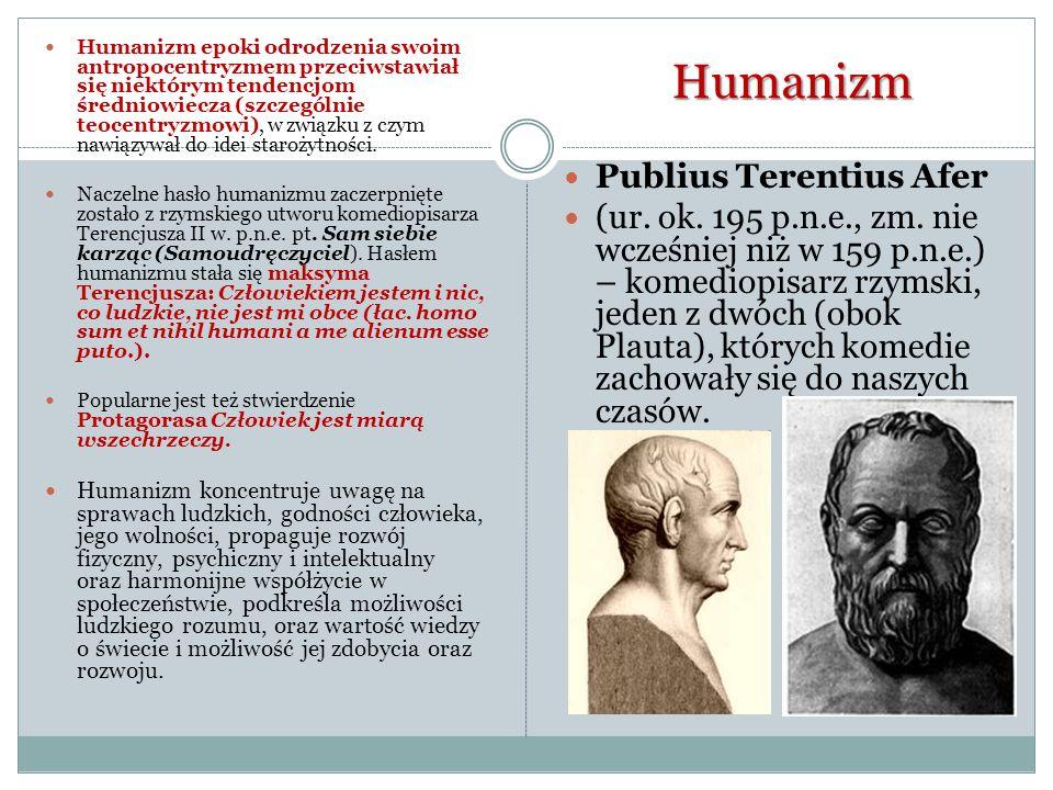 Humanizm Publius Terentius Afer