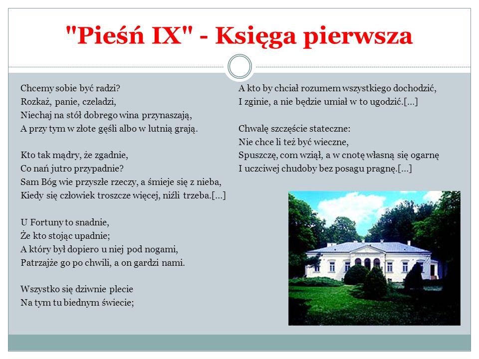 Pieśń IX - Księga pierwsza