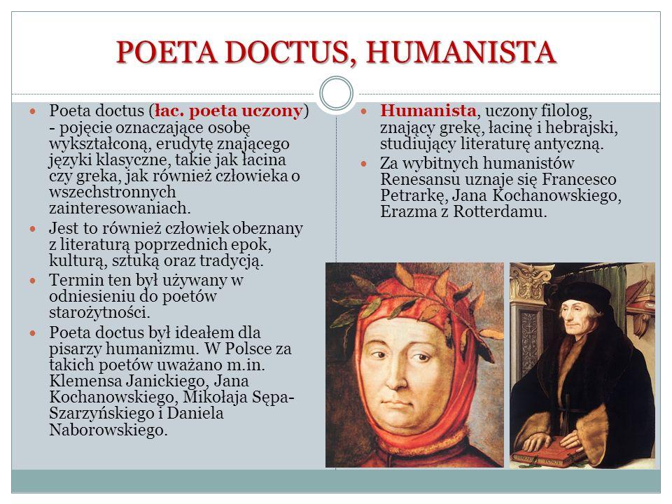 POETA DOCTUS, HUMANISTA