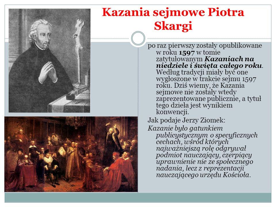 Kazania sejmowe Piotra Skargi