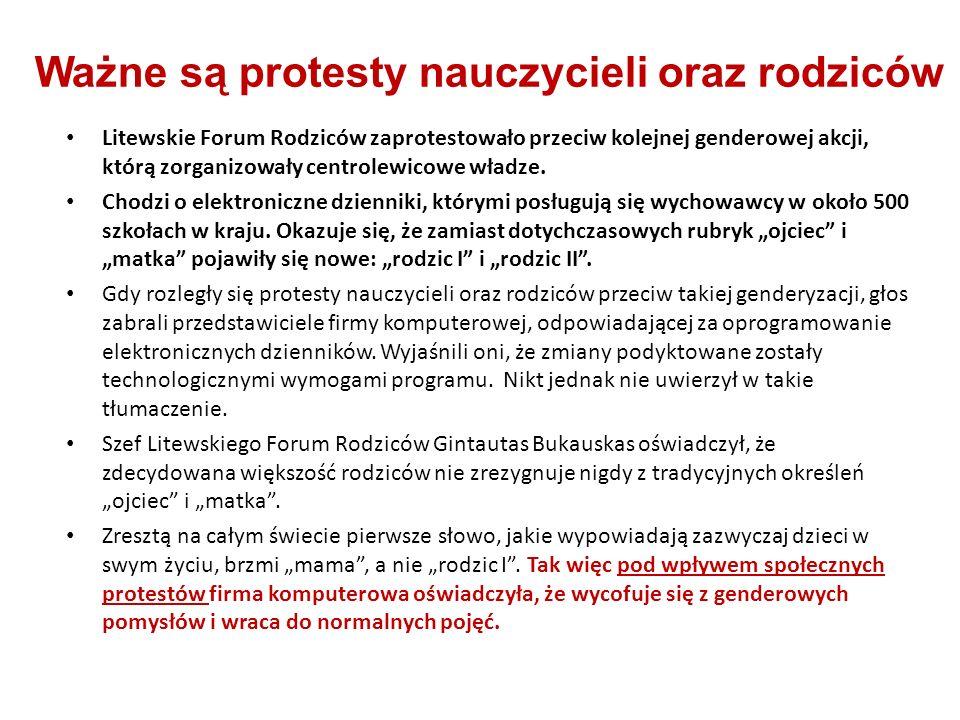 Ważne są protesty nauczycieli oraz rodziców