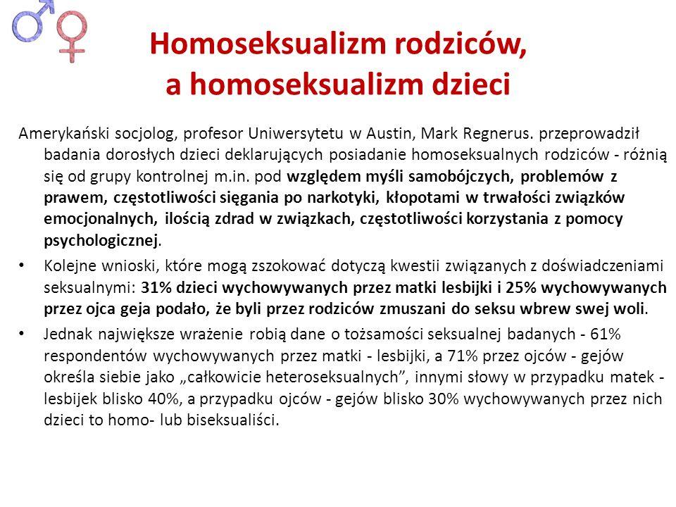 Homoseksualizm rodziców, a homoseksualizm dzieci